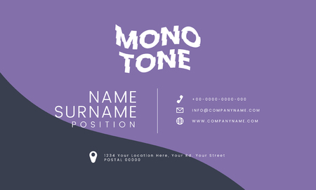 Monotone business card template mockup vector