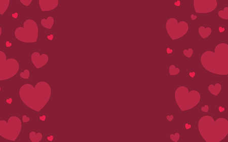 Red hearts background design vector 写真素材 - 125353807