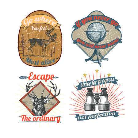 Set of vintage badges vector