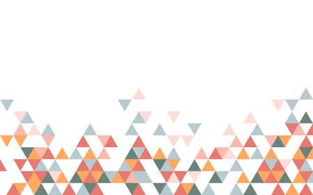 Colorful triangle patterned on white background Illustration