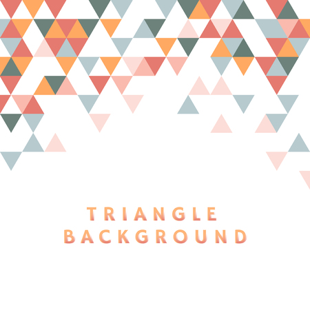 Colorful triangle patterned on white background Banco de Imagens - 116612123
