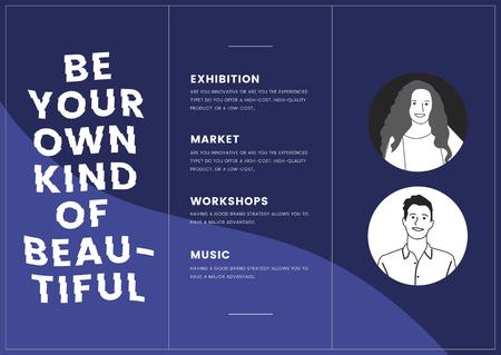 Monotone corporate brochure template mockup vector
