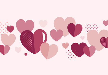 Valentine's Day banner decoration vector Иллюстрация