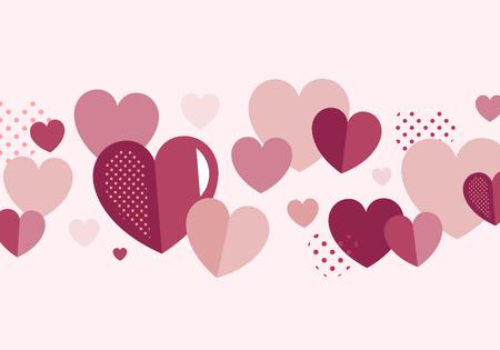 Valentinstag Banner Dekoration Vektor Vektorgrafik