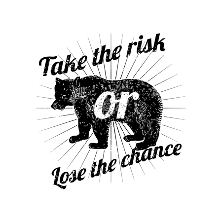 Take the risk or lose the chance vector Illustration