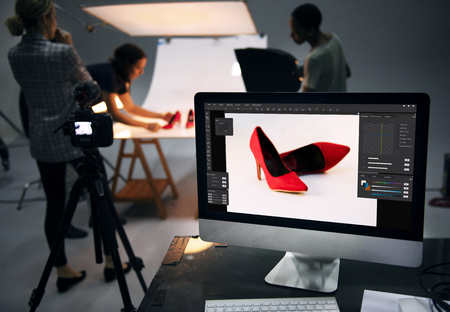 Product photography shoot of shoes 版權商用圖片