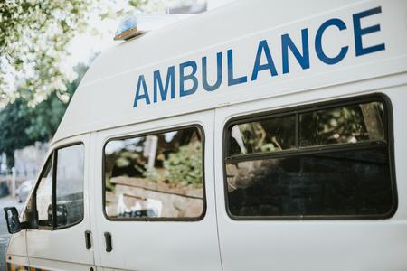 Side of a British ambulance