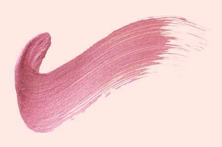 Tick mark shimmery pink brush stroke