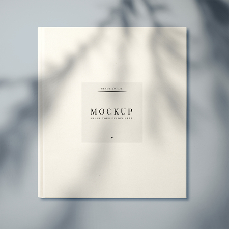 White textbook cover design mockup 免版税图像
