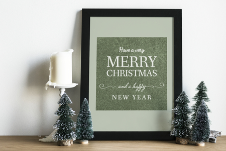 Christmas holiday greeting design mockup 版權商用圖片