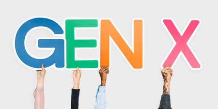 Hands holding the abbreviation Gen X