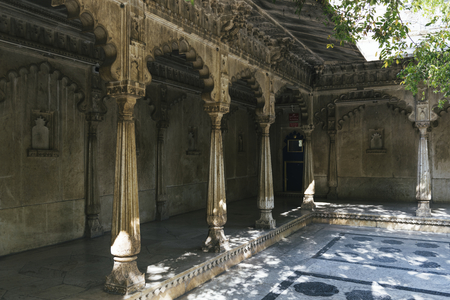 Badi Mahal or Garden Palace of City Palace in Udaipur Rajasthan, India Stock Photo