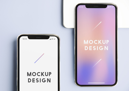 Premium mobile phone screen mockup template