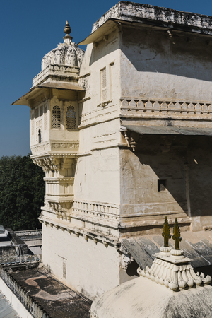 Architectural of City Palace in Udaipur Rajasthan, India