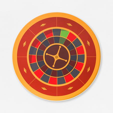 Red casino gambling roulette wheel