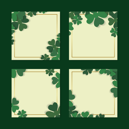 St.Patrick's Day blank  banners set vector Illustration