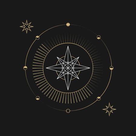 Vecteur de symbole mystique étoile géométrique