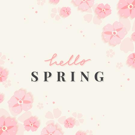 Spring floral frame design vector 向量圖像