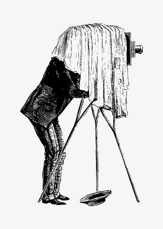 Vector de ilustración de fotógrafo vintage Ilustración de vector
