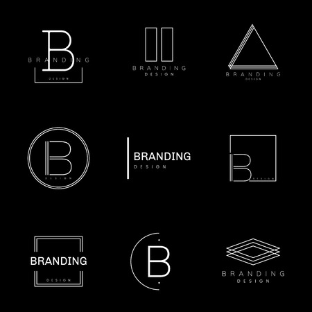 Minimal branding design set vector