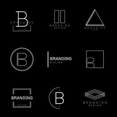 Minimal branding design set vector