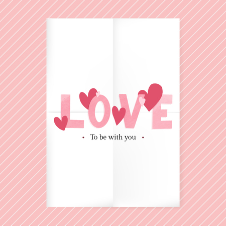 Love to be with you Valentines day card design vector
