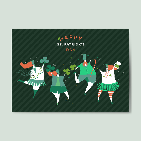Happy St. Patrick's Day greeting card vector