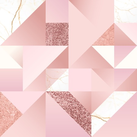 Pink feminine geometric background vector Stock Illustratie