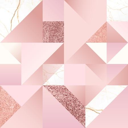 Vecteur de fond géométrique féminin rose