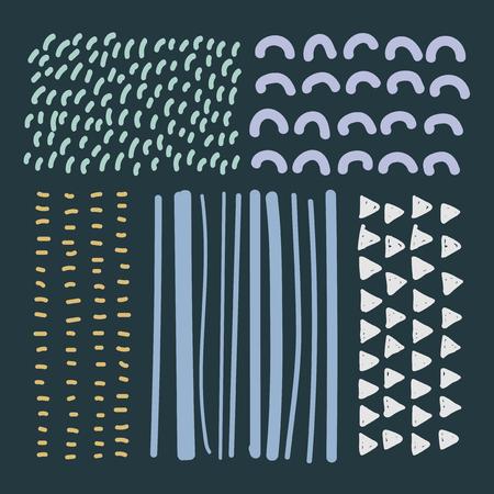 Hand drawn patterned design elements vector set Banque d'images - 116996228