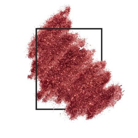 Red sprinkled glitter badge vector Иллюстрация