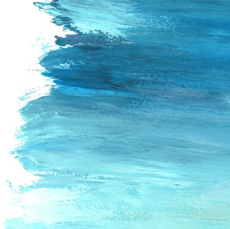 Teal abstract acrylic brush stroke textured background vector Banque d'images - 125239501