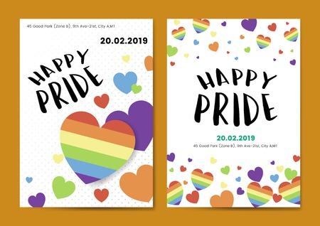Happy pride day posters vector Banco de Imagens - 116996247