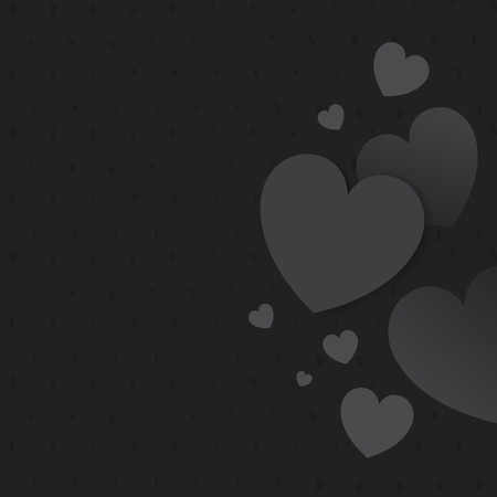 Gray hearts background design vector  イラスト・ベクター素材