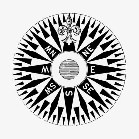 Common compass illustration vector 向量圖像