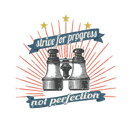 Strive for progress not perfection vector Ilustração