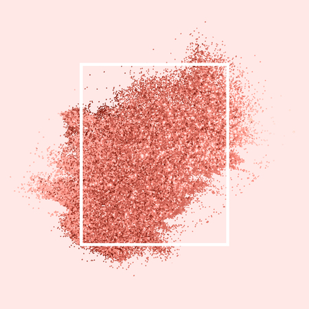 Pink sprinkled glitter badge vector 일러스트