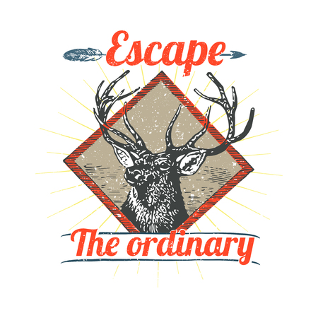 Escape the ordinary badge vector Ilustrace