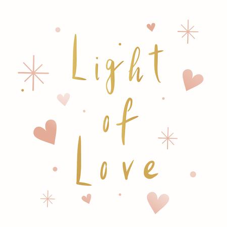 Light of love typography vector Çizim