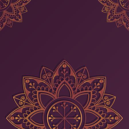 Eid mubarak lotus background vector Stock Vector - 116996326
