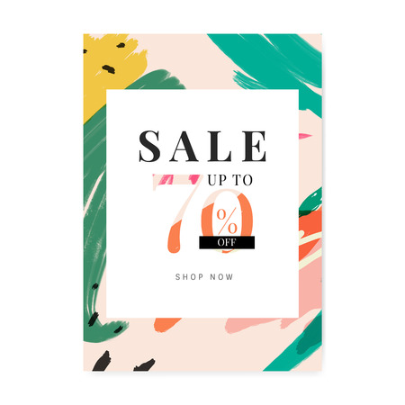 Memphis design with summer sale collection vector Çizim