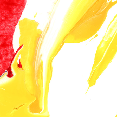 Yellow and white acrylic brush stroke textured background vector
