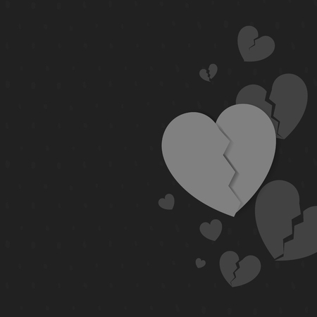 Gray hearts background design vector Illustration