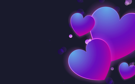 Pastel hearts background design vector Banco de Imagens - 125239606