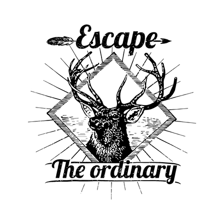 Motivational quote Escape the ordinary badge vector