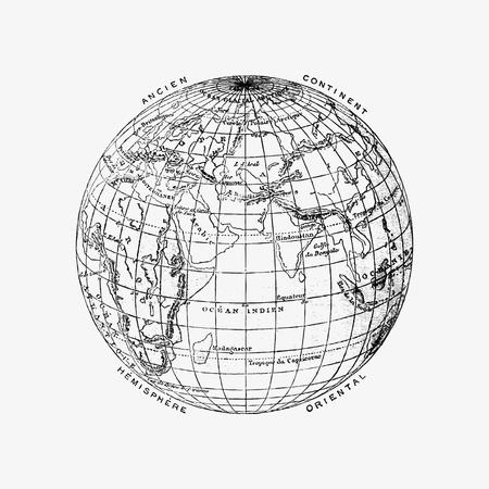 World atlas illustration vector