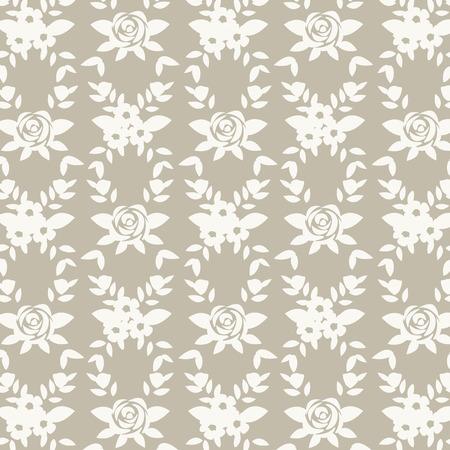 Gold floral patterned background vector Banco de Imagens - 125239638
