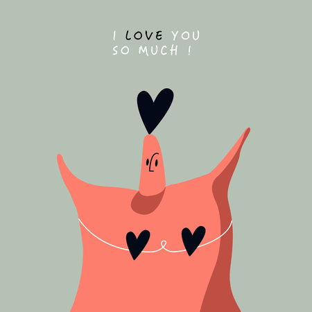 Character for Valentine's Day vector Foto de archivo - 125239644