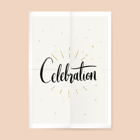 Festive celebration typography card vector Иллюстрация