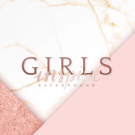 Pink feminine geometric background vector Illustration